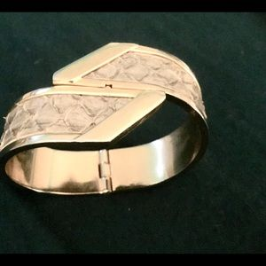 Jewelry - Snakeskin Hinged Bangle Bracelet